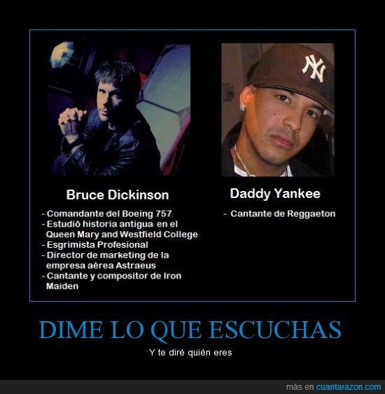 bruce dickinson,daddy yankee,iron maiden,reggaeton