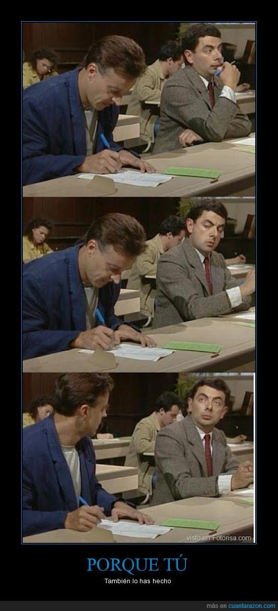 copiar,disimular,disimulo,examen,mr bean