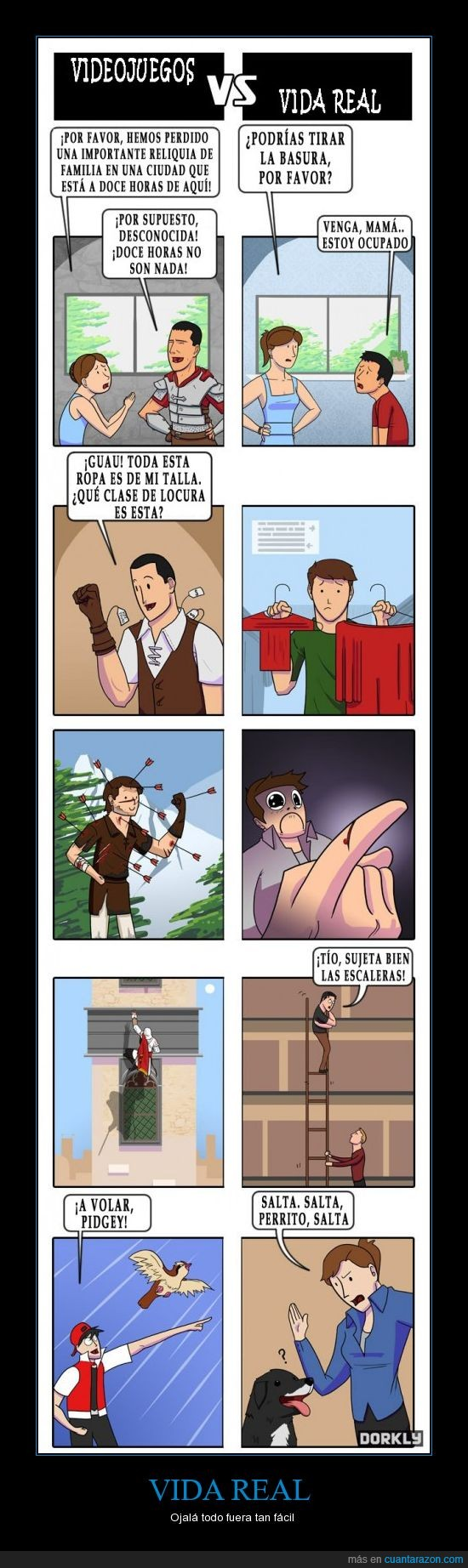 facil,flecha,herida,morir,perro,ropa,sangre,vida real,videojuego