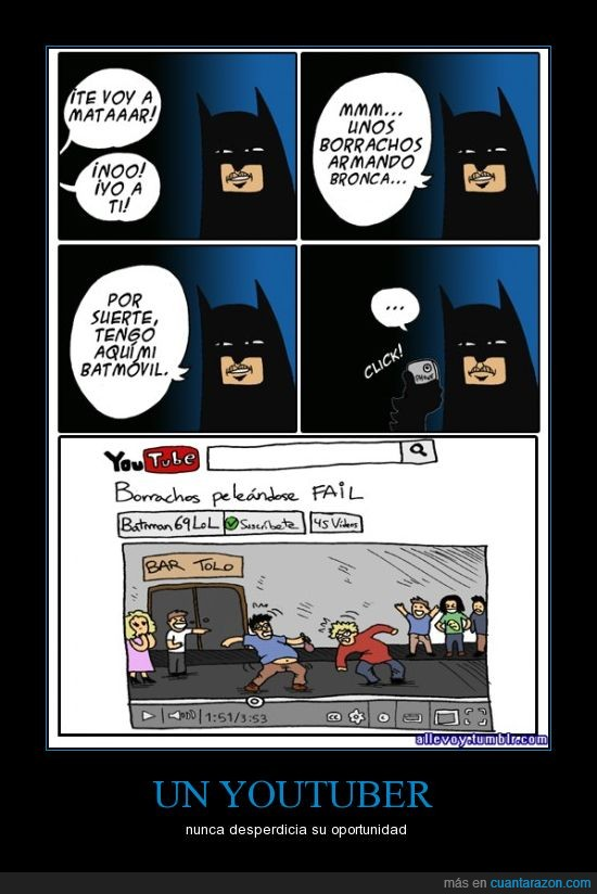 batman,batmovil,borrachos,fail,graba,video,youtube