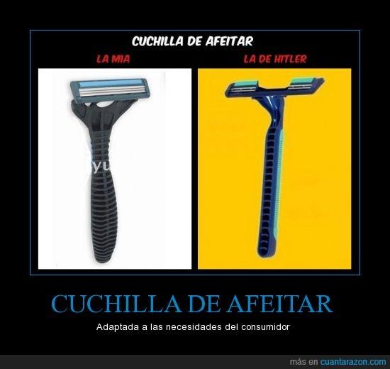afeitar,bigote,chuchilla,falta,hitler,trozo