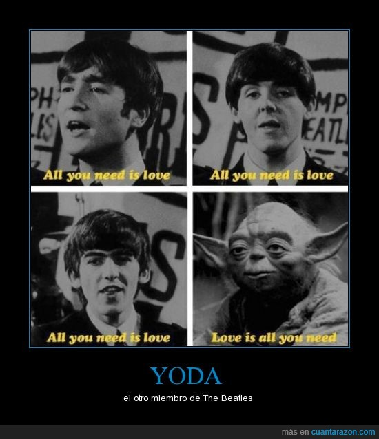 beatles,love,star wars,yoda