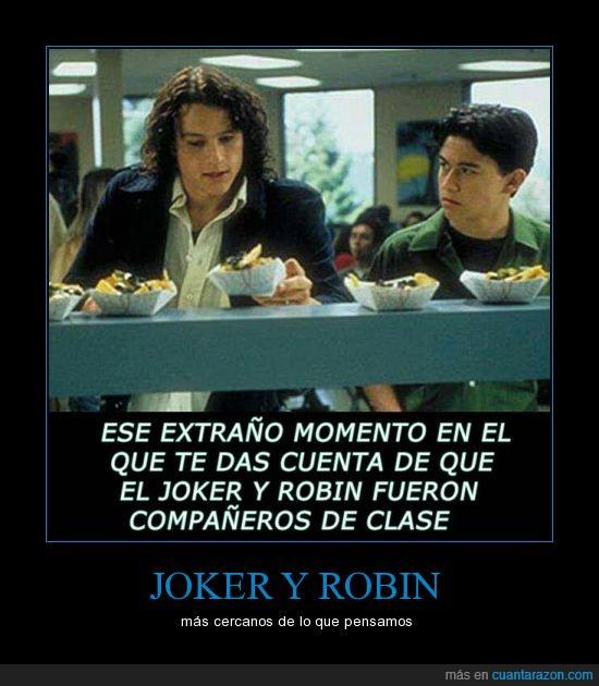 batman,clase,coleguio,compañero,joker,joven,razones para odiarte,robin