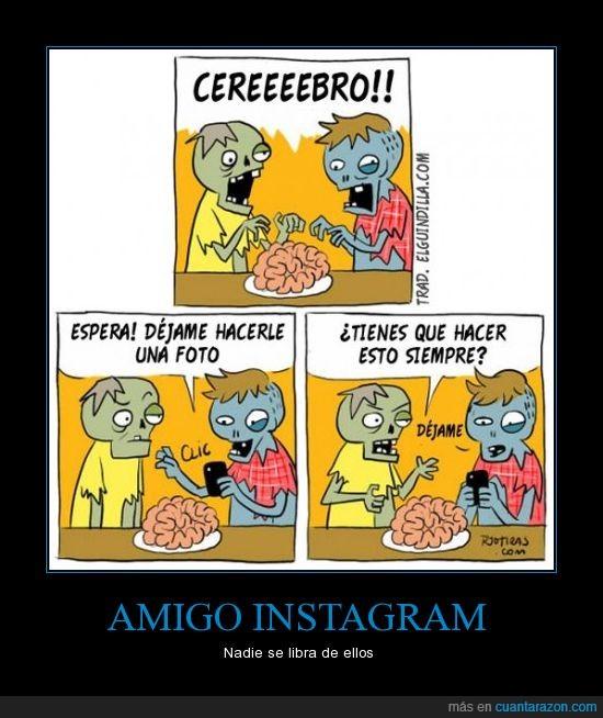 cerebro,comida,fotos,instagram,plato,zombies
