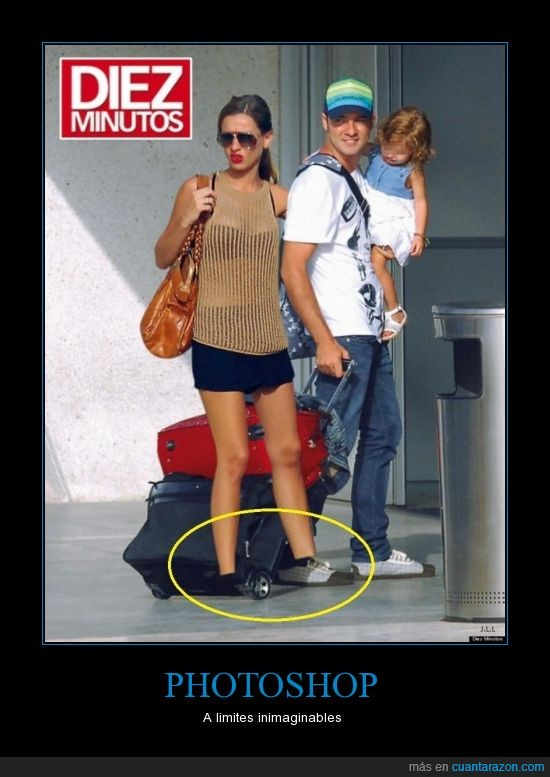chica,corta,fail,maleta,montaje,pies,¿Bisbal?