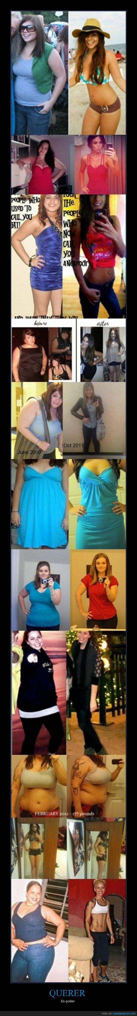adelgazar,cambio,chica,comer bien,deporte,fuerza,perder,peso,salud,sano,voluntad