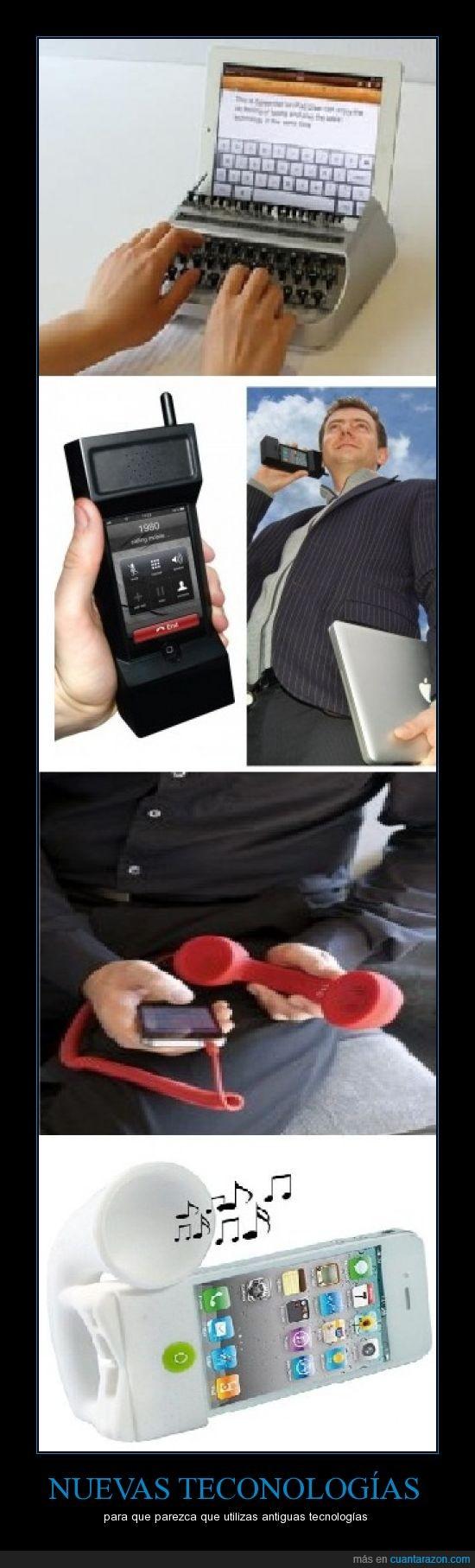 iphone,maquina de escribir,tecnologia,telefono,tocho