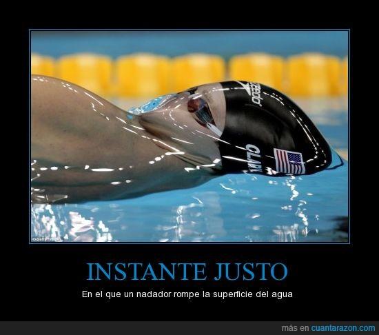 agua,americano,london 2012,nadador,natacion,parece alien,piscina