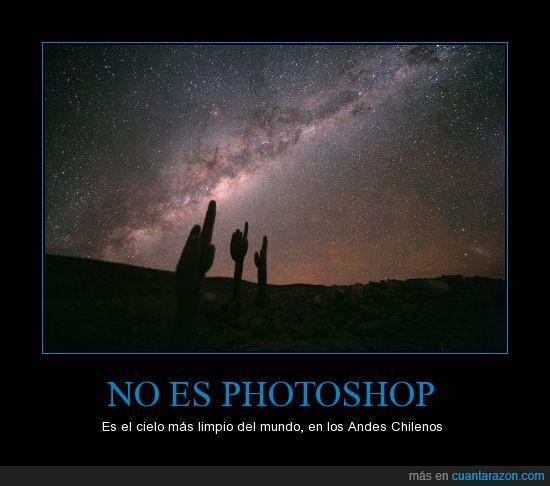 andes,Chile,cielo,limpio,photoshop