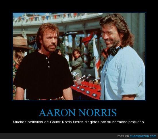 AARON,Chuck,dirigir,hermano,NORRIS,películas,pequeño