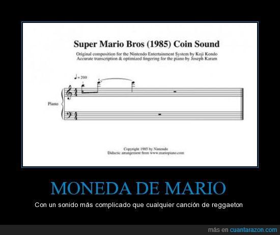 1985,Bros,coin,Mario,moneda,partitura,reggaetton,Super
