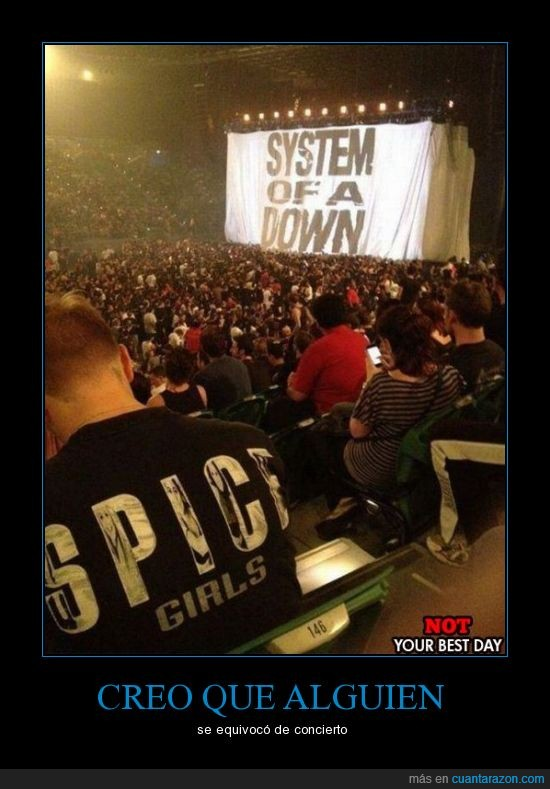 camiseta,concierto,error,fan,metal,musica,rock,soad,spice girls,system of a down