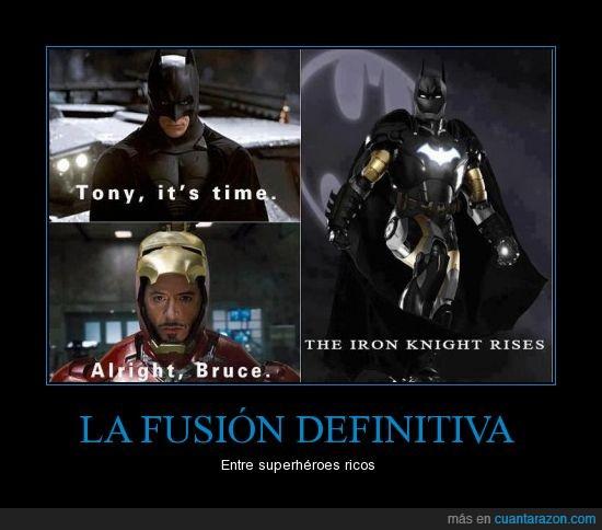 Batman,Dinero infinito,fusión,Ironman,Money,money everywhere