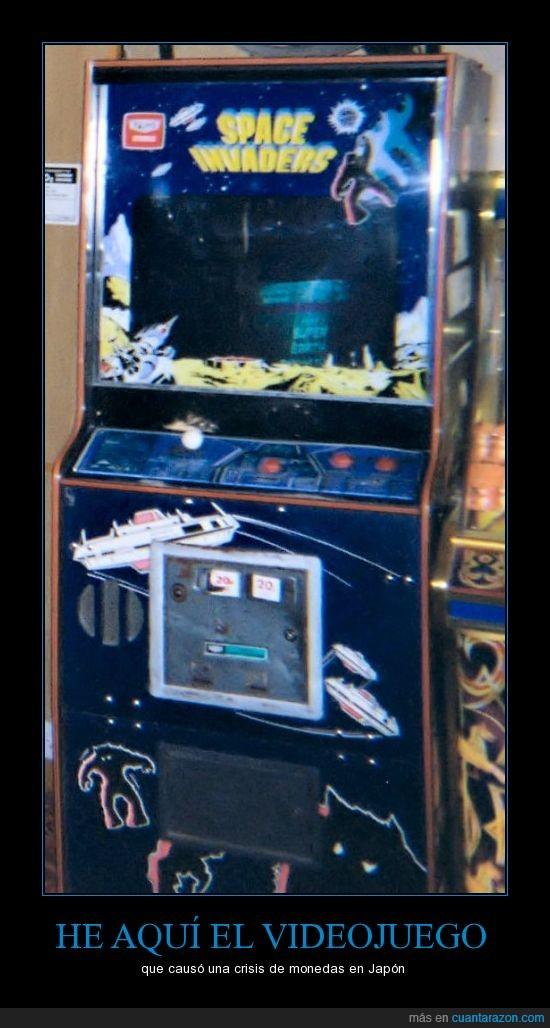 arcade,japon,monedas,pachinko,space invaders,videojuegos