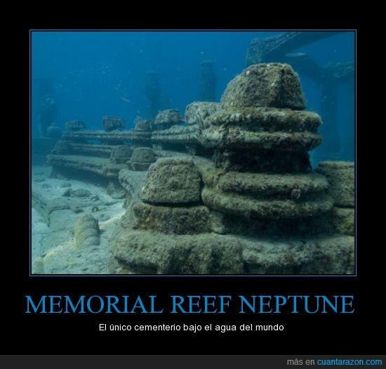 bajo el agua,cementerio