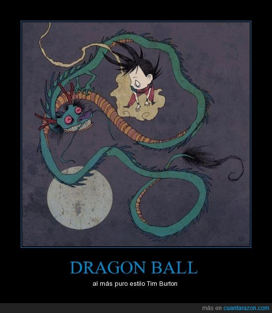 dibujos,Dragon ball,tim burton