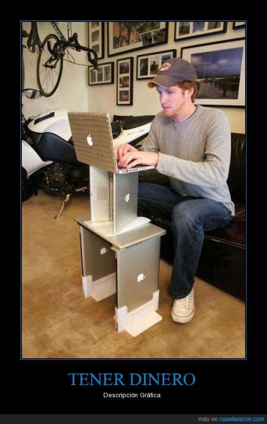apple,dinero,facebook,hijoputer,mac,macbook,mesa,ordenado