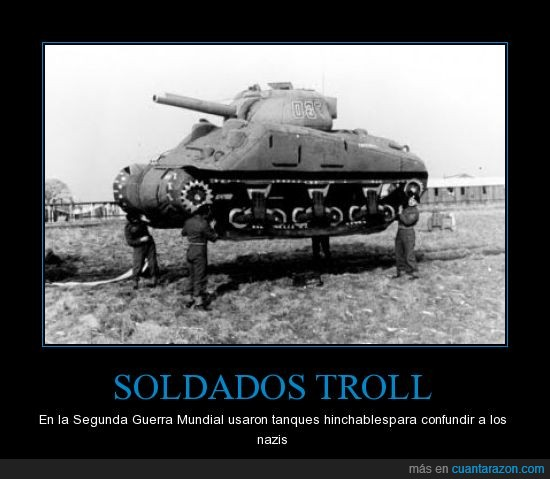 aire,fail,fake,guerra mundial,hinchable,nazi,owned,tanque