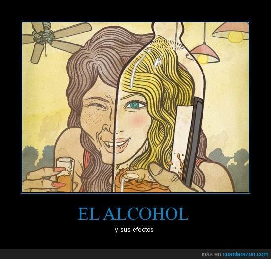 alcohol,bebida,cambio,cristal,efectos,fea,funciona,guapa