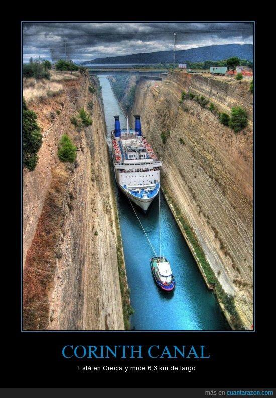 agua,barco,canal,estrecho,Grecia