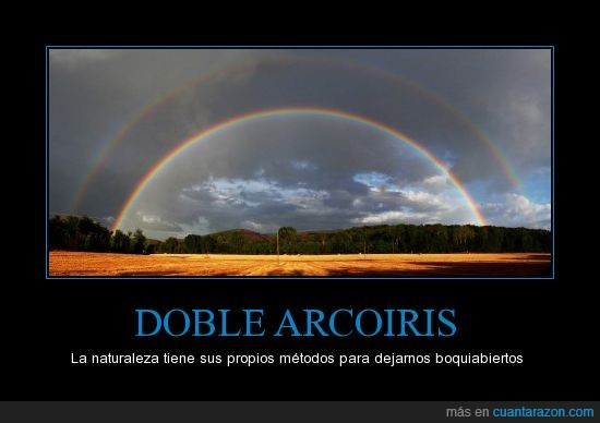 arcoiris,doble,naturaleza,photoshop