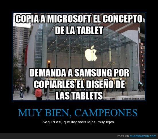 Apple,copiar,demanda,denunciar,diseño,genius,Microsoft,plagio,Samsung,Tablet
