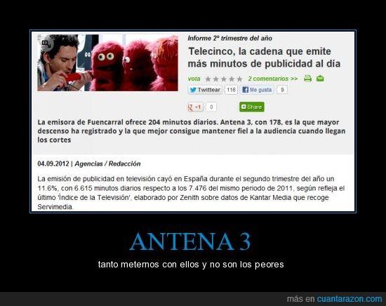 a3,antena 3,anuncio,minuto,publicidad,telecinco,telecirco