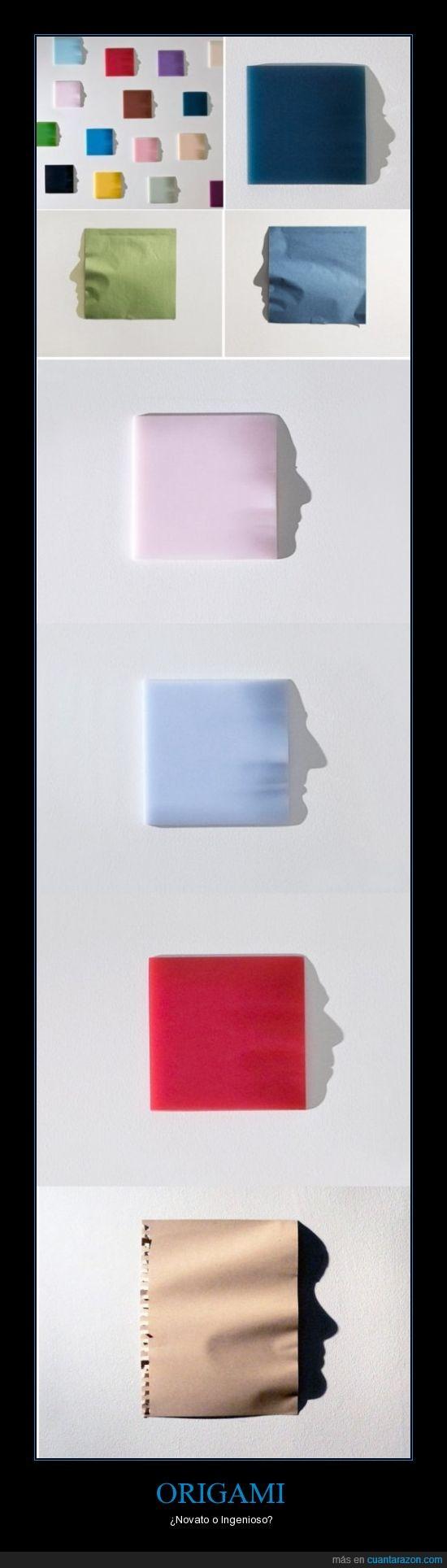 caras,ingenio,Kumi Yamashita,origami,relieve