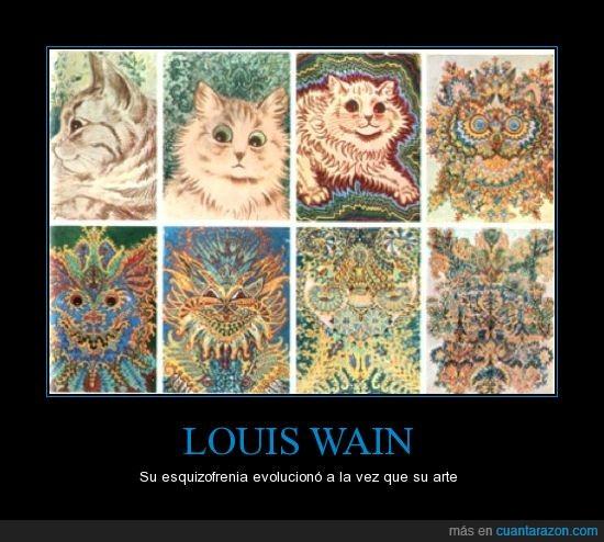 arte,esquizofrenia,gatos,Louis Wain