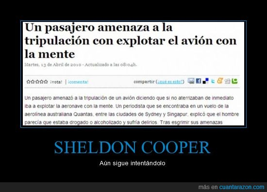 amenaza,avion,explotar,noticia,Sheldon