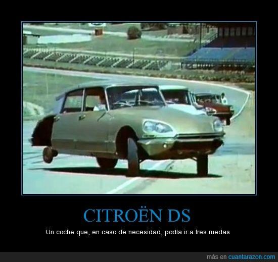 citroen DS,coche,impresionante,insólito,rueda