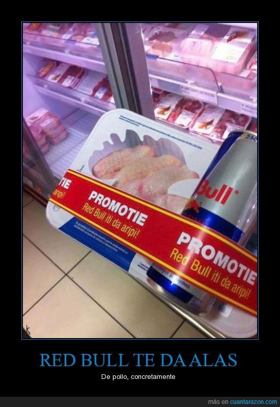 oferta,pollo,publicidad,red bull,te da alas