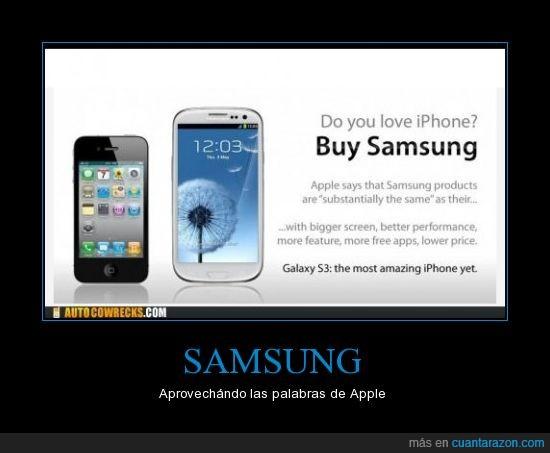 Apple,Galaxy,iPhone,publicidad,Samsung