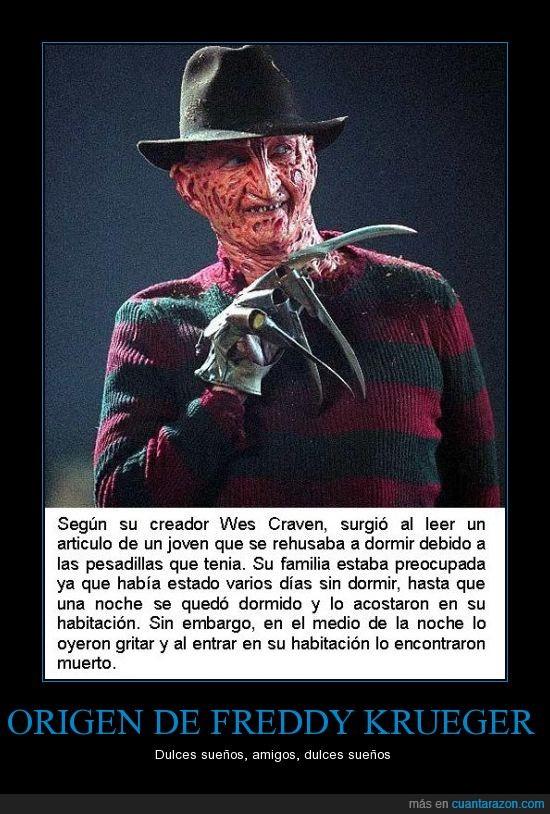 argentina,boca juniors,Freddy Krueger,horror,miedo,origen,pesadillas