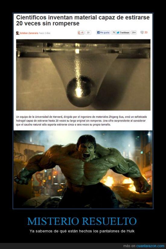 ciencia,Hulk,material,pantalones