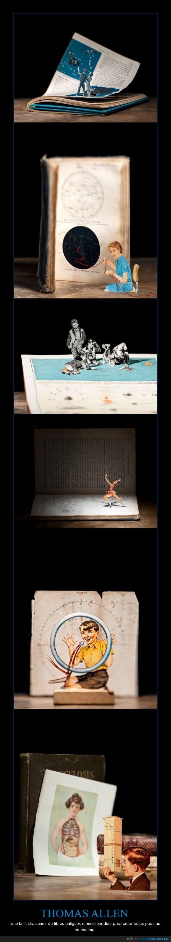 enciclopedias,escena,recortes,thomas allen