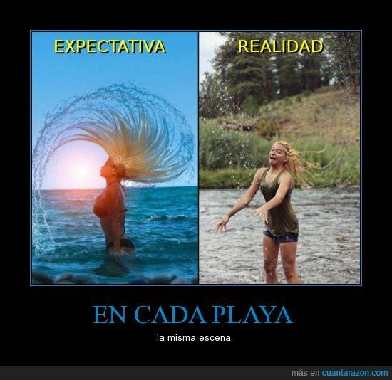 arco,comparacion,expectativa,ola,onda,pelo,playa,realidad