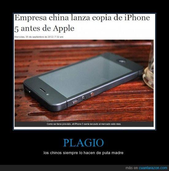 chinos,iphone 5,móvil,plagio,rápidos