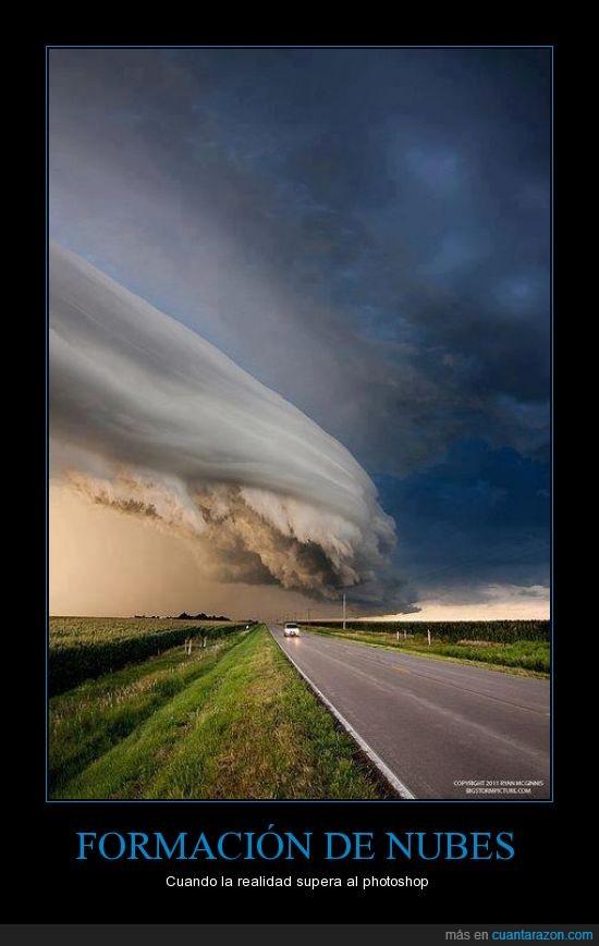 carretera,coche,increible,nube,tormenta
