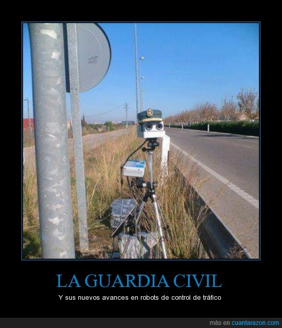 guardia civil,robot,trafico