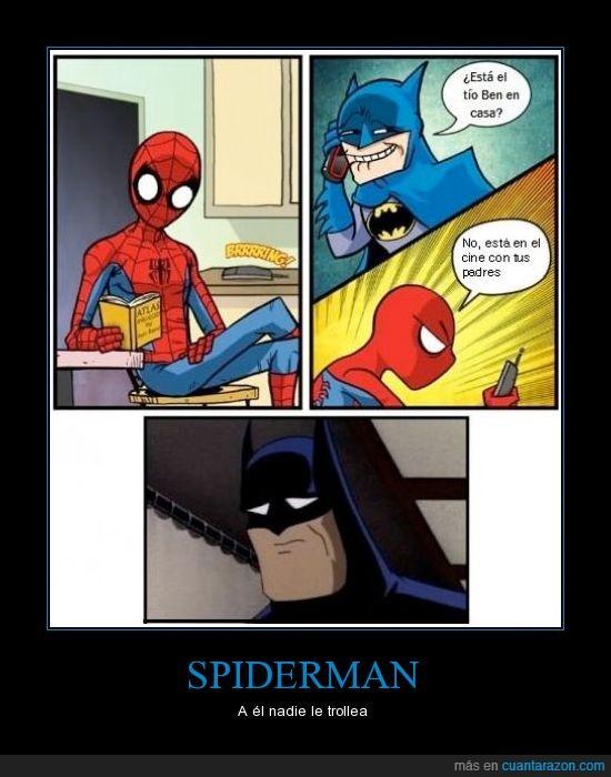 batman,broma,estupido y sensual patricio,spiderman,teléfono