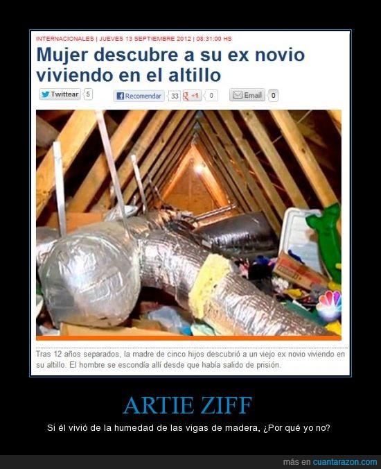 Altillo,Artie Ziff,Atico,Ex Parejas,humedad,Los Simpsons,Vivir