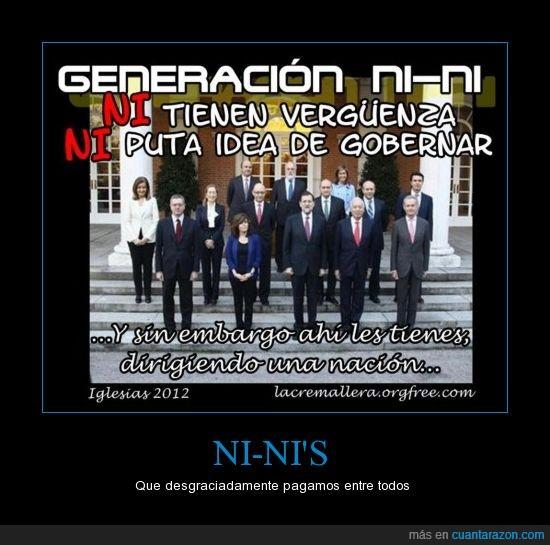 generación,gobernar,ni ni,politico,pp,rajoy,soraya,vergüenza