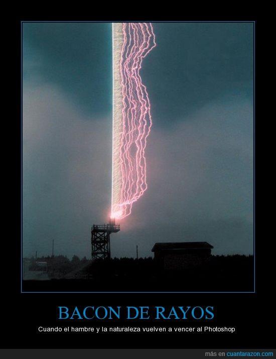 bacon,hambre,luz,photoshop,rayos