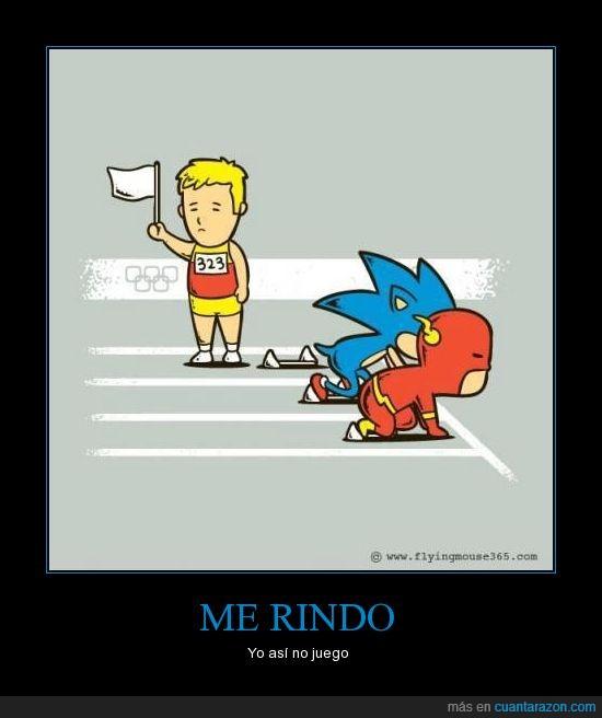 atleta,Carrera,Corredor,Flash,Rendirse,Sonic