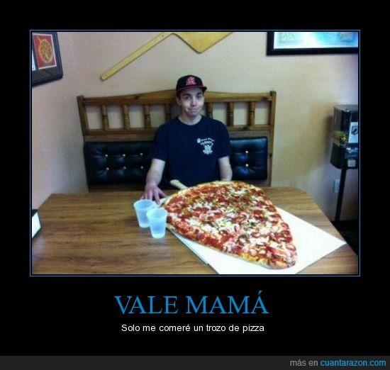 gigante,mamá,obediente,pizza,trozo