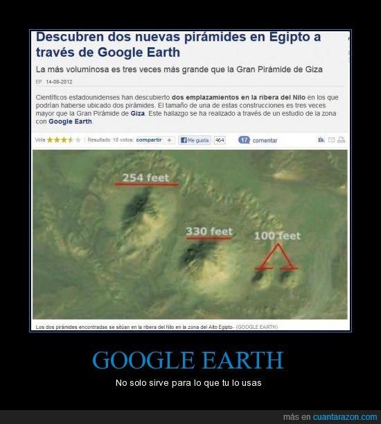 descubrimiento,egipto,google earth,pirámides