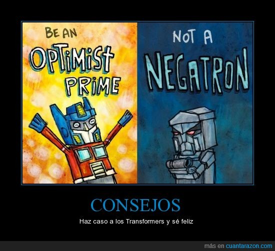 Consejos,Megatron,Optimus Prime,Transformers