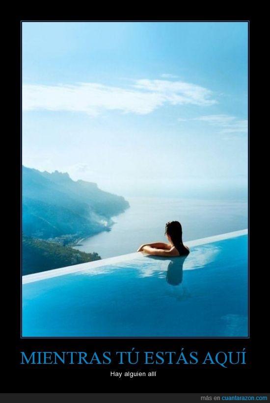 agua,chica,cielo,costa,espectacular,impresionante,mujer,paisaje,piscina