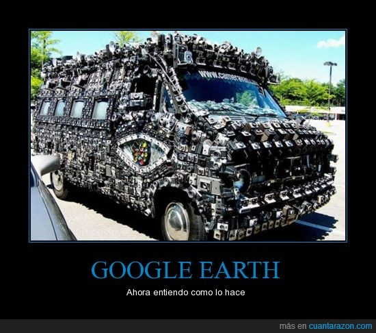 cámara,foto,furgoneta,Google Earth,internet,programa
